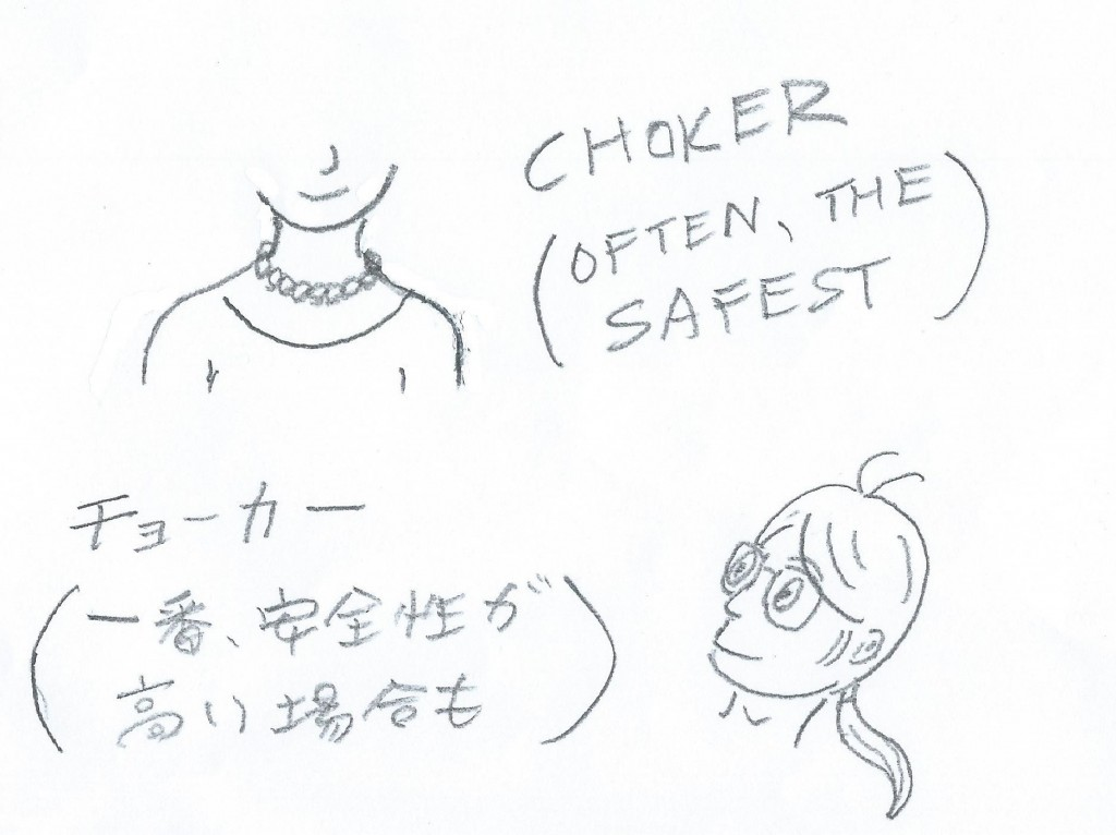 Often, chokers can be a safe choice ---