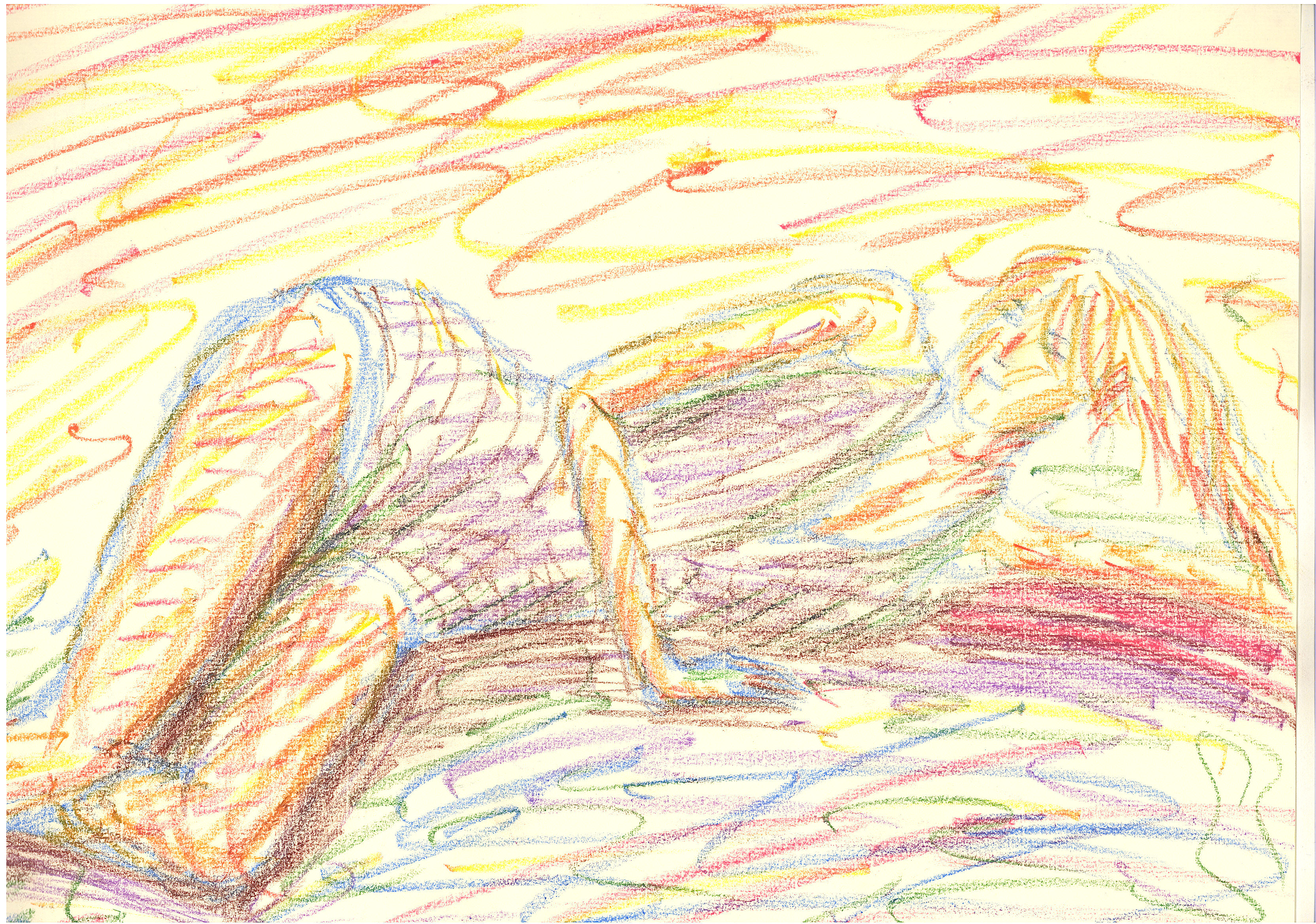 Note: though the model was wearing a swimsuit, those chaotic lines don't let this croquis look like a beach ad!