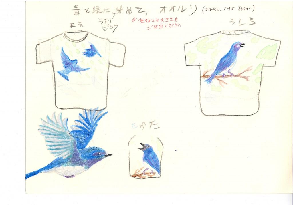Flycatchers on blue