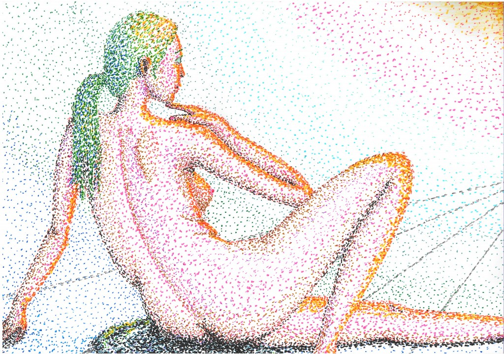 "Future Gazing --- last of ""marker pointillism experiments"" / 「マーカー点描実験」の最後"