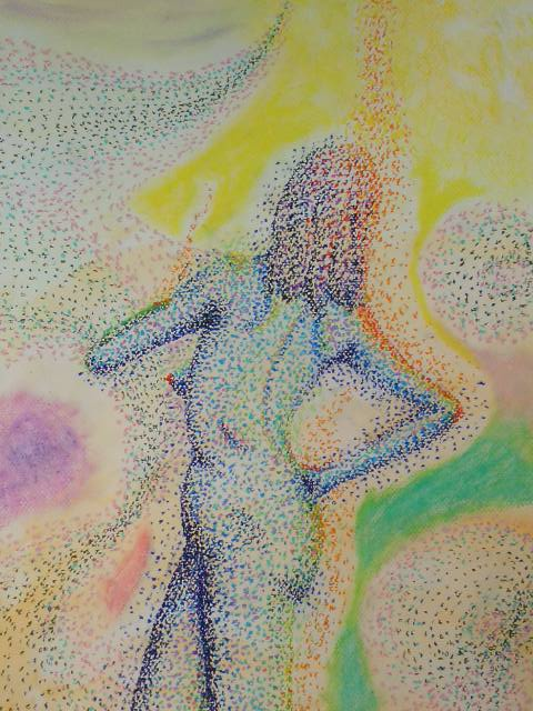 Another pointillism experiment -- still in progress / 点描の実験、もう1つ ・・ まだ進行中です
