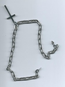 """Heavy metal"" chain choker / へヴィーメタル風チェーン チョーカー"