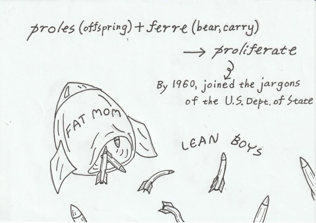 Proles (offspring) + ferre (bear, carry) ---> 1960年までには、米国国務省の特殊用語に