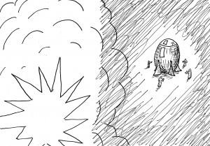 そちらが爆破で来るなら、こっちはもっと強烈な爆破で)